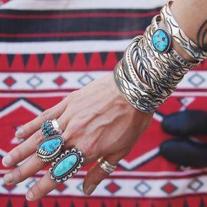 Turquoise and silver bracelets via instagram meg_girard #meggirard #jewelry #metalsmith #jeweler #silver #turquoise #southwestern #GIRLBOSS