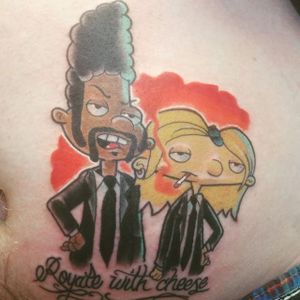 Hey, Arnold! Tattoos of Everyone's Favorite Football Head (via IG—rodgettysburg) #HeyArnold #Nickelodeon #Cartoon #Nicktoon