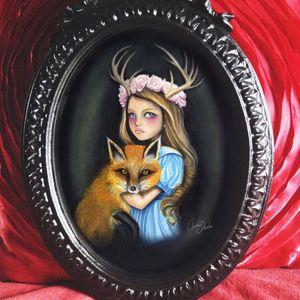 Fox and Deer by Claudia Ducalia (via IG-claudia_ducalia) #fineart #artshare #tattooartist #oilpainting #ClaudiaDucalia