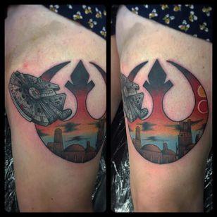 Rebel Alliance Tattoo by Josh Delaney #RebelAlliance #RebelAllianceTattoo #StarWarsTattoo #ForceAwakens #StarWars #JohnDelaney
