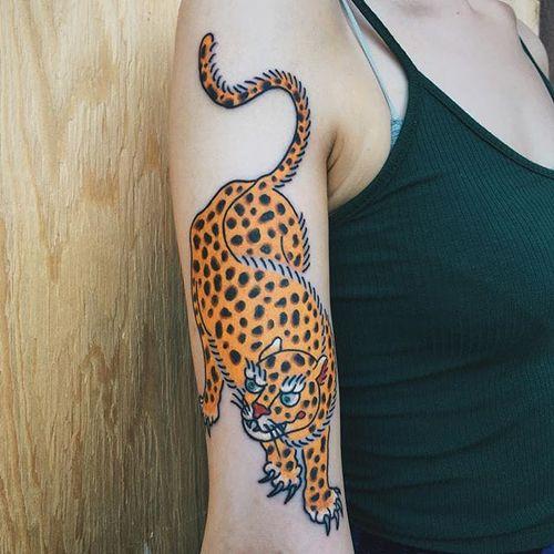 Leopard by Boshka Grygoriew Alvy (via IG-boshka_grygoriew_alvy) #oldschool #tibetan #color #hybrid #BoshkaGrygoriewAlvy