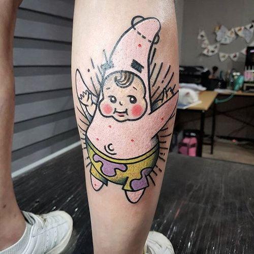 SpongeBob SquarePants tattoo by Sonstar Tattooer. #Sonstar #spongebob #spongebobsquarepants #cartoon #nickelodeon #tvshow #kewpie