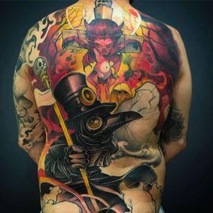 Back tattoo in progress #Logan #BarracudaTattoo #newschool #backpiece