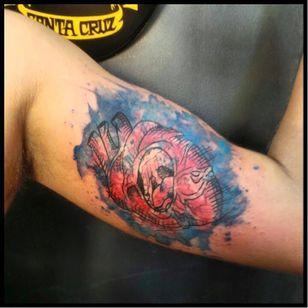 #coração #heart #JohnNeedle #JonathanBrito #aquarela #coloridas #watercolor #colorful #TatuadoresDoBrasil