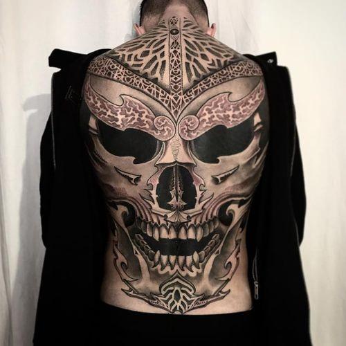 Jondix #Jondix #blackandgrey #dotwork #linework #mandala #pattern #sacredgeometry #tribal #skull #darkart #fire #death