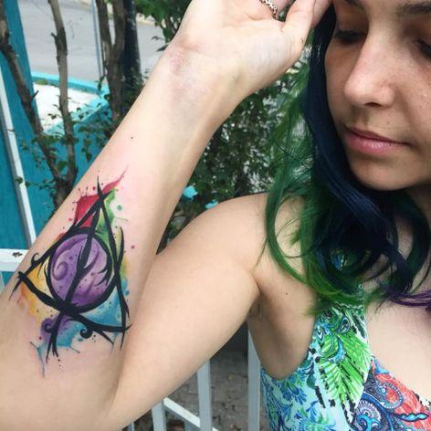 #ArthurOliveira #watercolor #aquarela #tatuadoresdobrasil #brasil #brazil #colorido #colorful #harrypotter #nerd #geek #movie #filme #book #livro