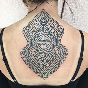 Patternwork Tattoo by Ian Lütz #patternwork #patternworktattoo #patternworktattoos #patterntattoo #patterntattoo #blackwork #blackworktattoo #IanLutz