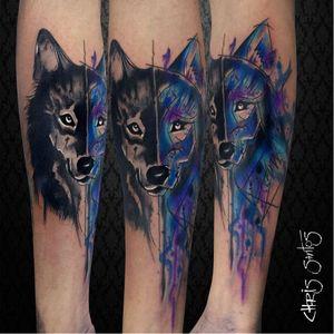 #lobo #wolf #ChrisSantos #TatuadoresDoBrasil #aquarela #watercolor #coloridas #colorful #brasil