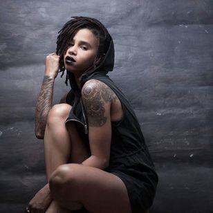 Fabiola Jean-Louis - self-portrait. #afropunk #blackgirlmagic #tattooedwomen #beauty