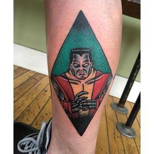 Colossus Superhero Tattoo, artist unknown #Colossus #XMen #MarvelTattoos #SuperheroTattoos