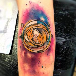 Vira-tempo do Harry Potter! #MarcoMedeiros #colorida #colorful #aquarela #watercolor #tatuadoresdobrasil #harrypotter #potterheads #nerd #geek #viratempo #filmes #movies