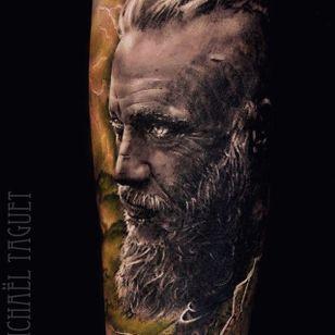 Ragnar Lothbrok. (via IG - michaeltaguet) #realism #celebrity #portrait #michaeltaguet #vikings