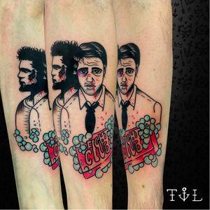 Por Thaís Leite! #ThaisLeite #TatuadorasBrasileiras #FightClub #fightclubtattoo