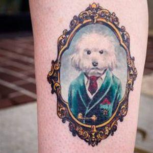 A Proper Gentleman via instagram mikedevries #dog #pet #petportrait #suit #frame #color #MikeDeVries