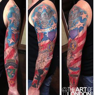 A patriotic tribute sleeve by London Reese. (Via IG - londonreese)
