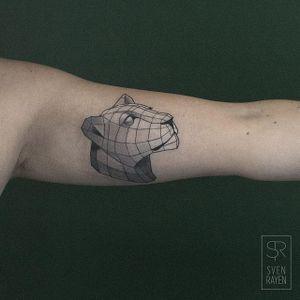 Lioness by Sven Rayen (via IG-svenrayen) #geometric #blackandgrey #animal #lioness #illustrative #svenrayen