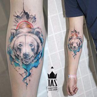 Bear tattoo #RodrigoTas #watercolor #graphic #bear