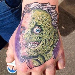 Two Face Tattoo by Frontyard Tattoo #TwoFace #Batman #DCComics #FrontyardTattoo