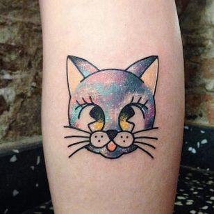 Kawaii cat tattoo by Numi #Numi #cat #kitty #kawaii