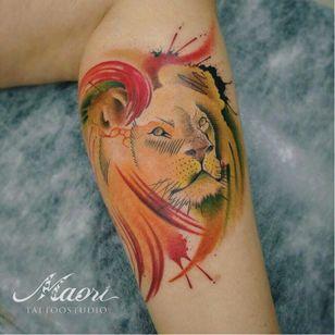#leão #lion #JoãoVictorMartins #aquarela #watercolor #coloridas #colorful #talentonacional #tatuadorbrasileiro #brasil
