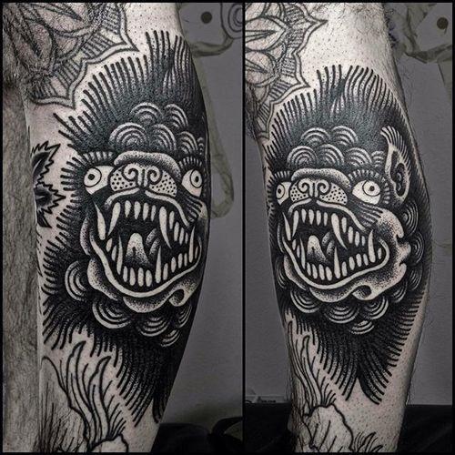 Blackwork Tattoo #blackwork #traditionalblackwork #blacktattoos #blackink #SimoneRuco