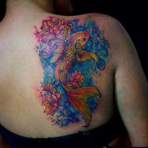 #carpa #koifish #AndreFelipe #TatuadoresDoBrasil #ilustrador #aquarela #watercolor #talentonacional #brasil