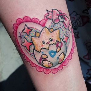 Togepi tattoo by Mewo Llama. #MewoLlama #pokemon #videogames #anime #kawaii #cute