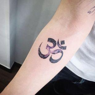 Watercolor Om symbol by tattooist_flower #sacred #om #symbol #watercolor #pastel