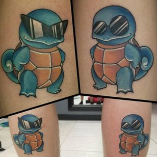 Two Squirtles looking fly as hell by Steven Paradis (IG—paradistattoo). #GameBoy #Nintendo #Pokémon #Squirtle #StevenParadis