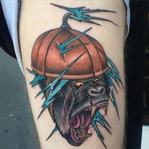 Gorilla tattoo by Craig Gardyan #gorilla #neotraditional #monkey #CraigGardyan
