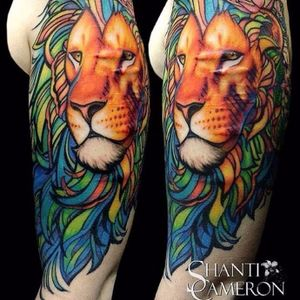 Lion scar cover-up tattoo by Shanti Cameron. #ShantiCameron #scar #coverup #art #lion