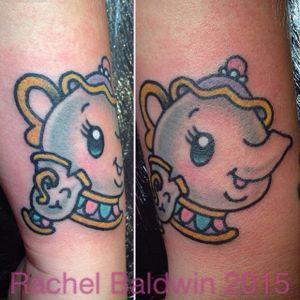 Beauty and the Beast tattoo by Rachel Baldwin. #beautyandthebeast #disney #fairytale #kawaii #RachelBaldwin