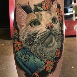 Floyd the cat by Megan Massacre #MeganMassacre #color #cat #realism #portrait #tattoooftheday