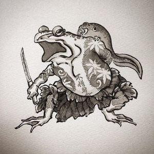 Toad Flash by Makoto Ohmatsu #flash #illustration #toad #japanesefrog #frog #japanese #makotoohmatsu