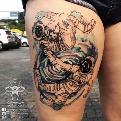 #MayaraCompulsiva #tatuadorasdobrasil #astronauta #astronaut #galaxia #galaxy