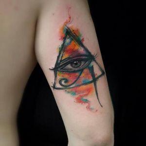 #olhoquetudove #olho #eye #horus #AndreFelipe #TatuadoresDoBrasil #ilustrador #aquarela #watercolor #talentonacional #brasil