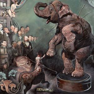 Circus by Alex Reisfar (via IG-alexreisfar) #surrealism #artist #artshare #painting #fineart #AlexReisfar