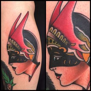 Dietzel Girl Tattoo by Ginger Tom Tattoo #AmundDietzel #DietzelGirl #oldschool #GingerTomTattoo #girlhead