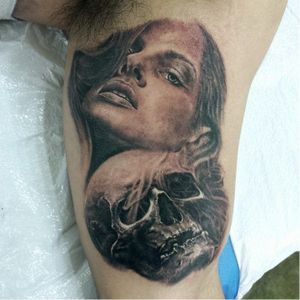 #pretoecinza #blackandgrey #caveira #skull #FabioFontinelle #california #sandiego #brasil #brazil #portugues #portuguese #realismopretoecinza
