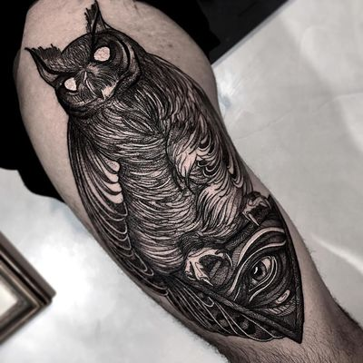 #WesleyMaik #tatuadoresdobrasil #sketch #blackwork #coruja #owl #olho #eye