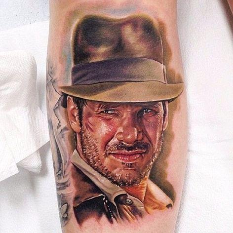 O aventureiro e explorador Indiana Jones (1981) #KrisBusching #StrangerThings #referencia #reference #indianajones #harrisonford #80s #movie #filme #georgelucas #stevenspielberg