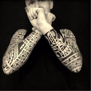 Polynesian tattoo #Marquesantattoo #tribaltattoo #DmitryBabakhin #ethnictattoo #Polynesiantattoo