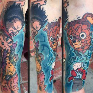 A badass collage based on Akira by Jamie Lee Parker (IG—jamieleeparker). #Akira #anime #Esper #JamieLeeParker #Tetsuo