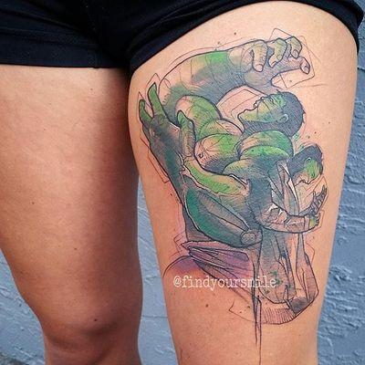 Hulk #RussellVanSchaick #gringo #watercolor #aquarela #sketchstyle #hulk #marvel #movie #filme #avengers #vingadores #hq #comic #nerd #geek #brucebanner #cartoon