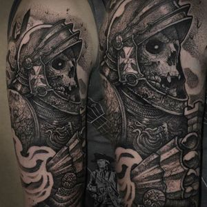 Soldier of Hell by Rob Borbas (via IG-grindesign_tattoo) #illustrative #horror #blackandgrey #robborbas #Grindesign