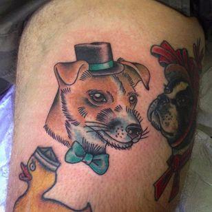 Jack Russell Terrier by Luke Smith (via IG -- lukejamessmith) #lukesmith #jackrussell #jackrusselltattoo #jackrussellterrier