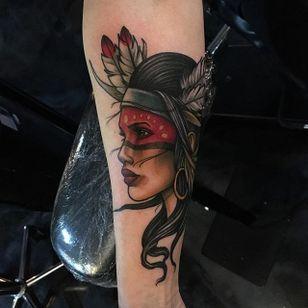 Native American tattoo by Craig Gardyan #nativeamerican #neotraditional #CraigGardyan