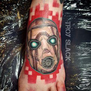 Borderlands Tattoo by Troy Slack #Borderlands #Gaming #gamingtattoos #TroySlack
