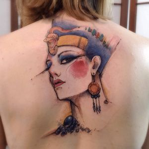 Nefertiti #VictorMontaghini #brasil #brazil #tatuadoresdobrasil #brazilianartist #estilorascunho #sketchstyle #watercolor #aquarela #egipcia #egyptian #nefertiti #queen #rainha