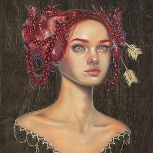 """Cordelia"" via @relmxx #Relm #ARTSHARE #painting #fineartist"